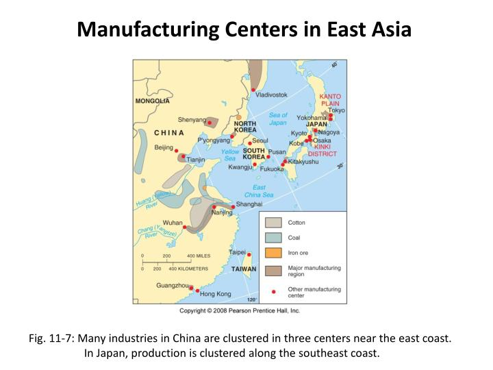 Manufacturing Centers in East Asia
