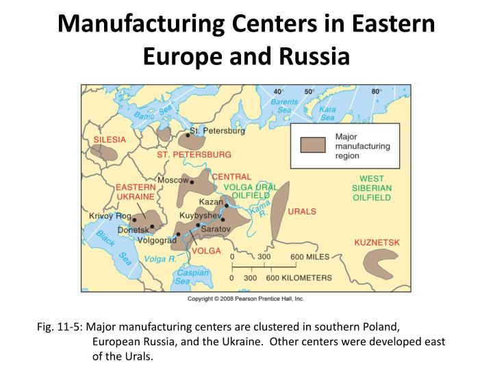 Manufacturing Centers in Eastern Europe and Russia