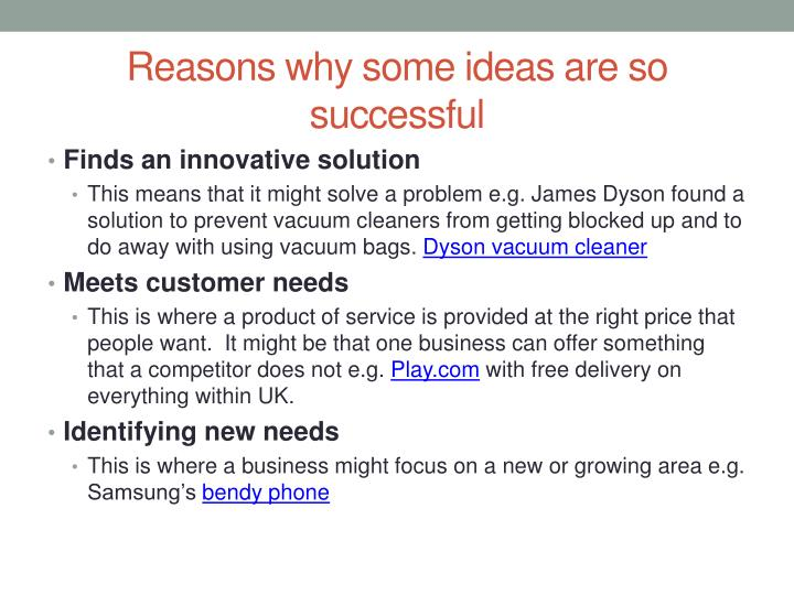 Reasons why some ideas are so successful