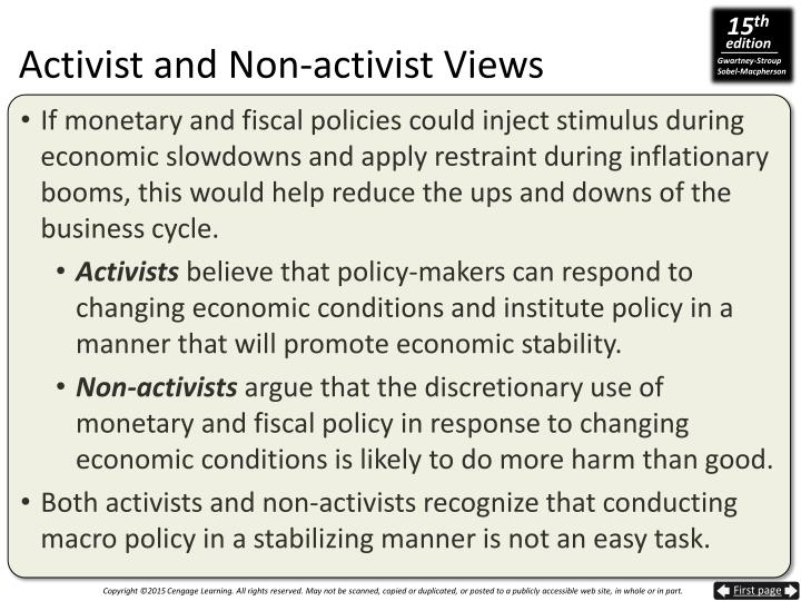 Activist and Non-activist Views