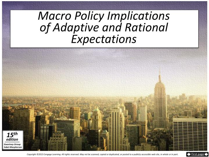 Macro Policy Implications