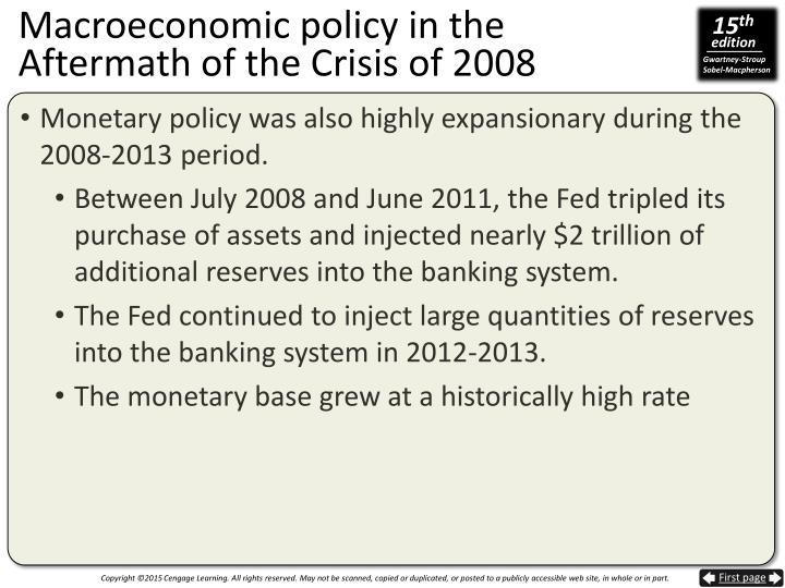 Macroeconomic policy in