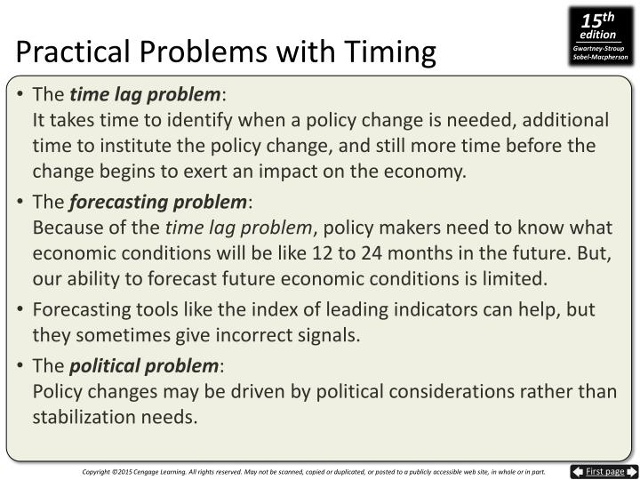 Practical Problems with Timing