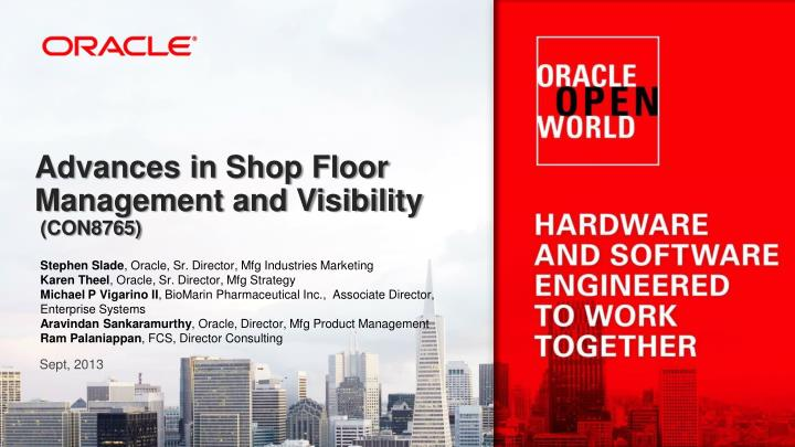 advances in shop floor management and visibility con8765 n.