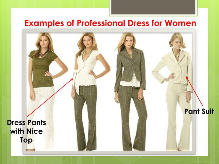 Examples Of Professional Dress For Women