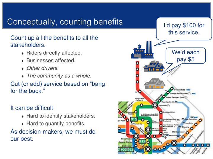 Conceptually, counting benefits
