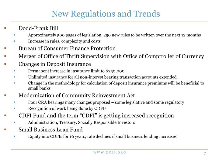 New Regulations and Trends