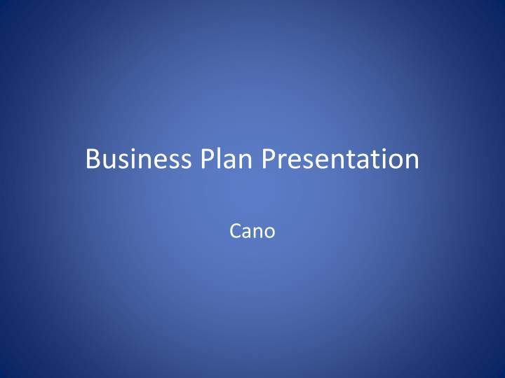 business plan presentation n.