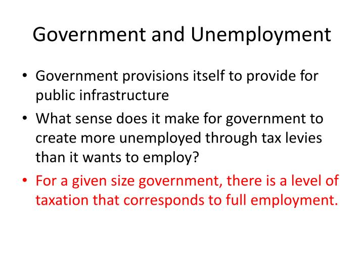 Government and Unemployment