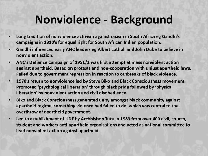 Nonviolence - Background