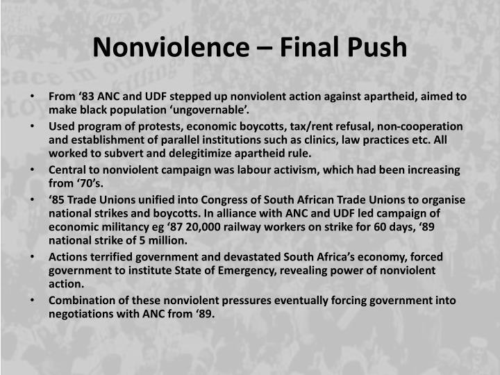 Nonviolence – Final Push