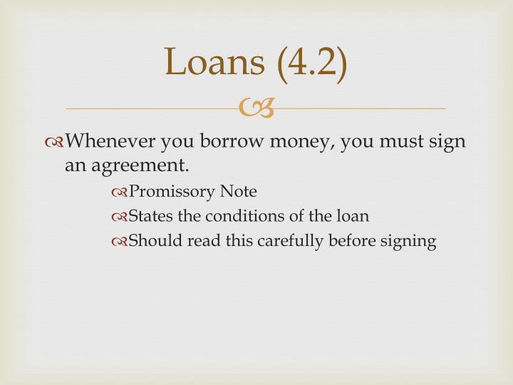 Loans 4 2