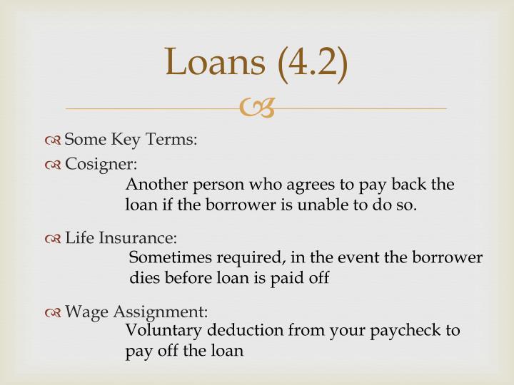 Loans 4 21