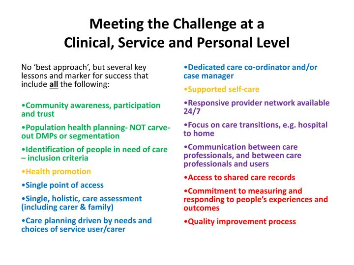Meeting the Challenge at a