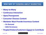 new way of thinking about marketing