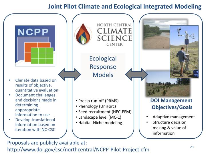 Joint Pilot Climate and Ecological Integrated Modeling