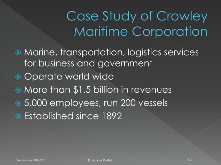 Case Study of Crowley Maritime Corporation