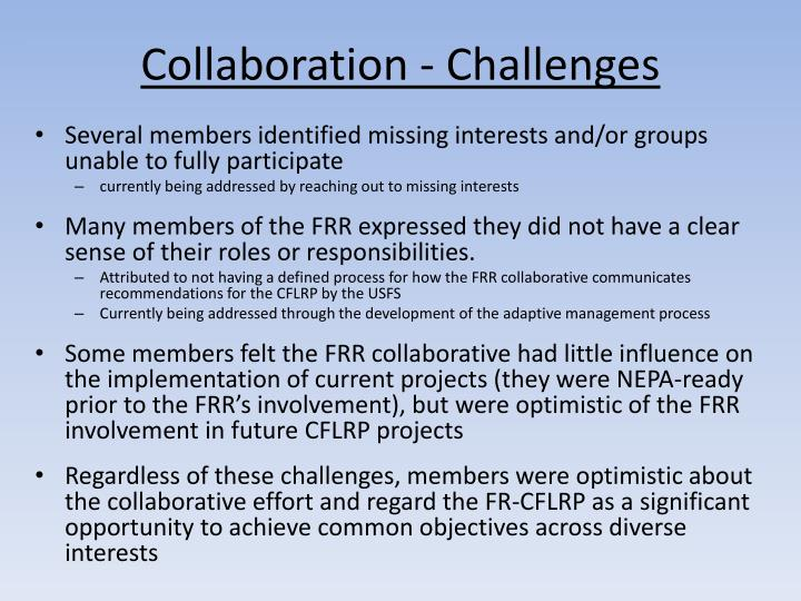 Collaboration - Challenges