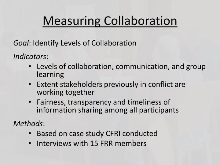 Measuring Collaboration