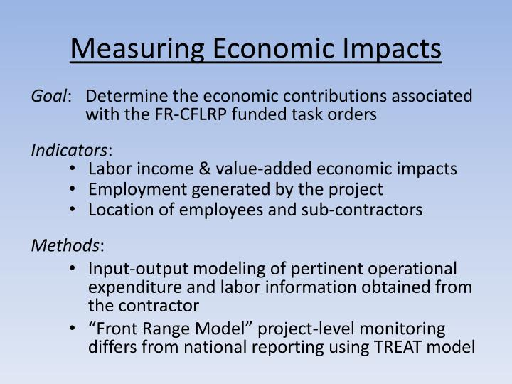Measuring Economic Impacts