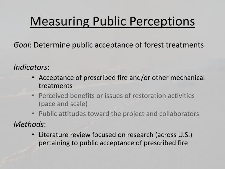 Measuring Public Perceptions