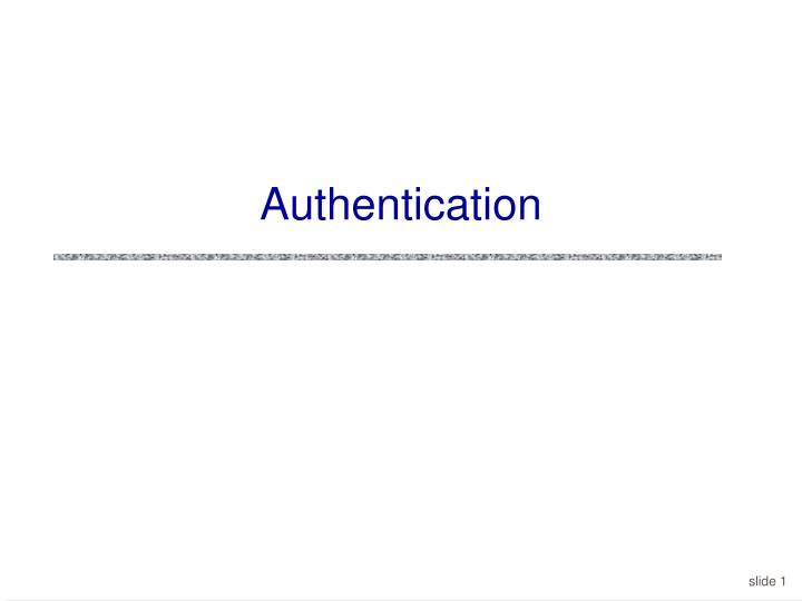 authentication n.