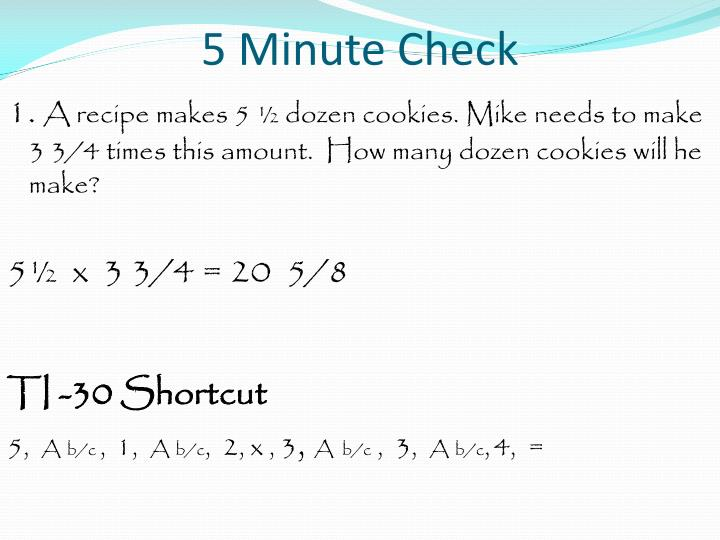 5 minute check2
