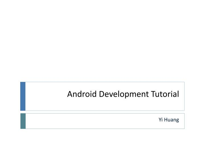 android development tutorial n.