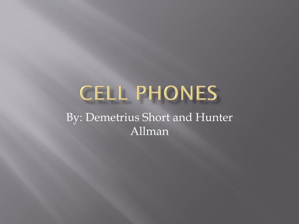 short presentation on mobile phones