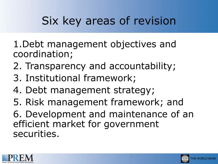 Six key areas of revision