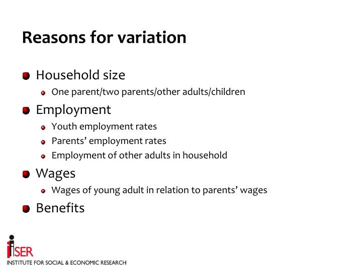 Reasons for variation