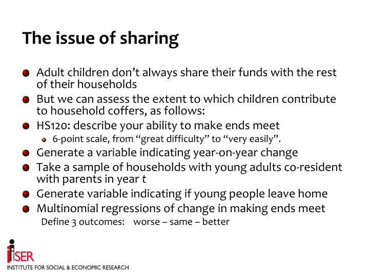 The issue of sharing