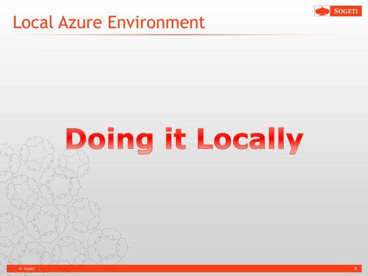 Local Azure Environment
