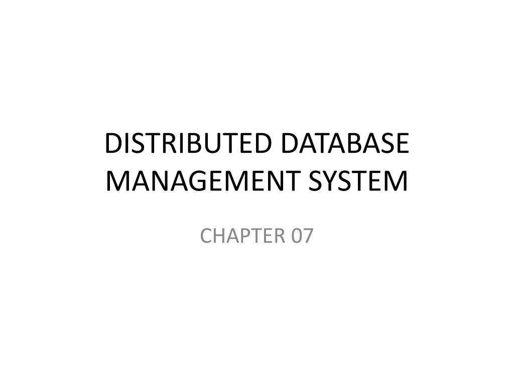 Ppt Distributed Database Management System Powerpoint Presentation N