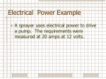 electrical power example