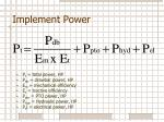 implement power1