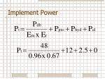 implement power3