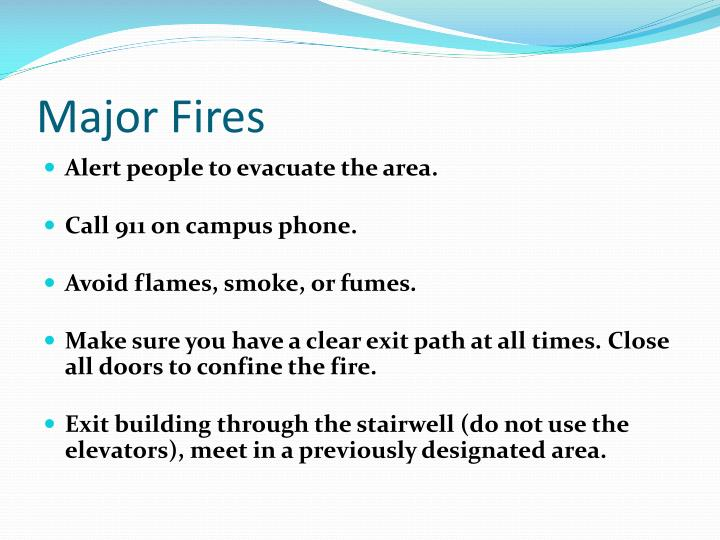 Major Fires