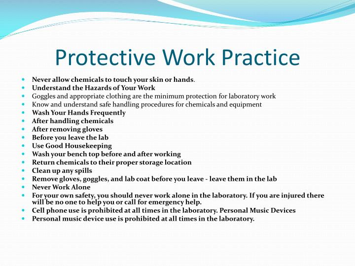 Protective Work Practice