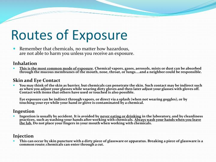 Routes of Exposure