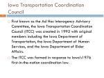 iowa transportation coordination council