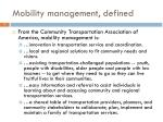 mobility management defined