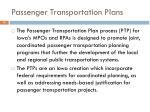 passenger transportation plans