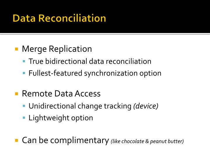 Data Reconciliation