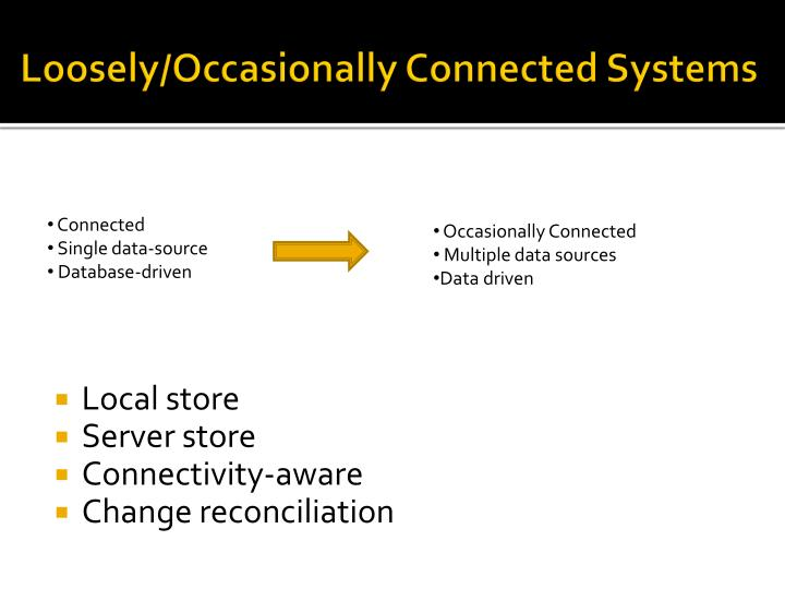 Loosely/Occasionally Connected Systems