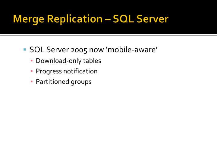 Merge Replication – SQL Server