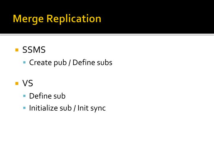 Merge Replication
