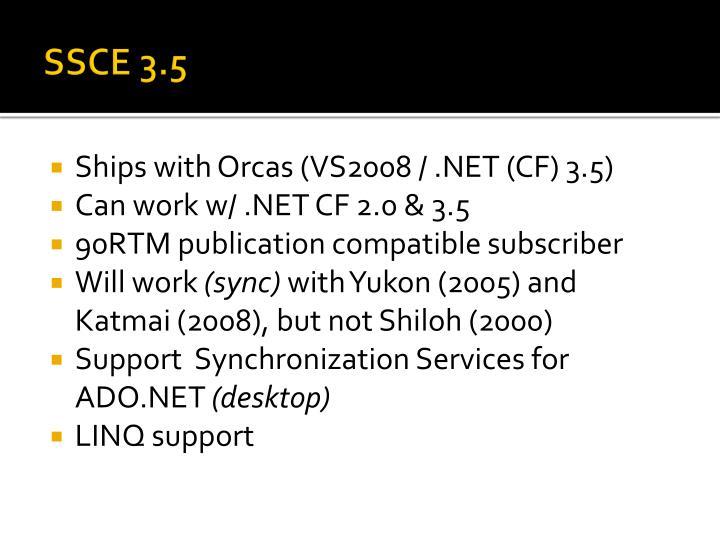SSCE 3.5