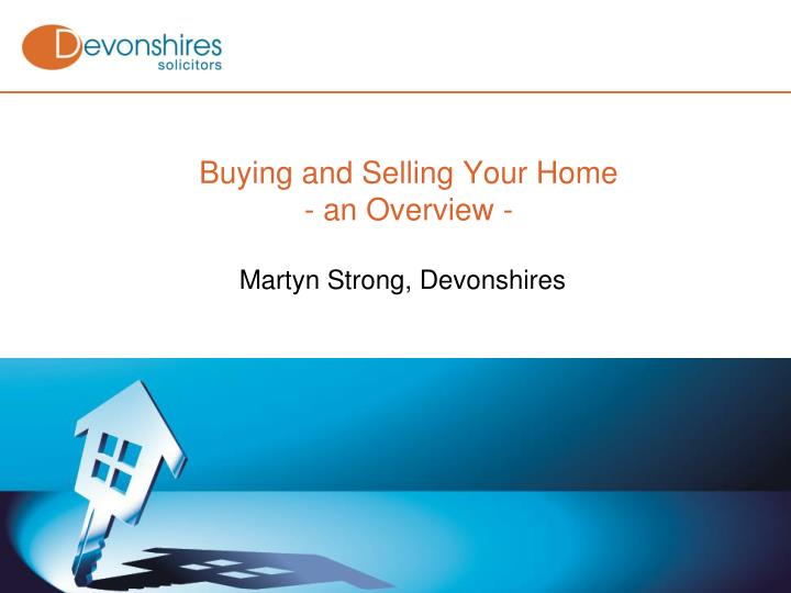 buying and selling your home an overview n.