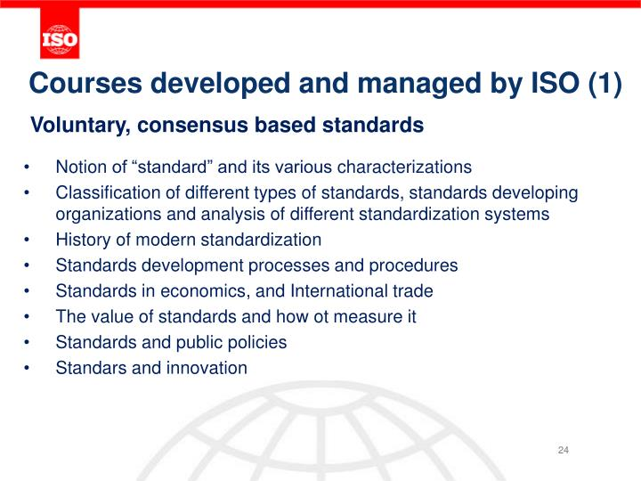Courses developed and managed by ISO (1)